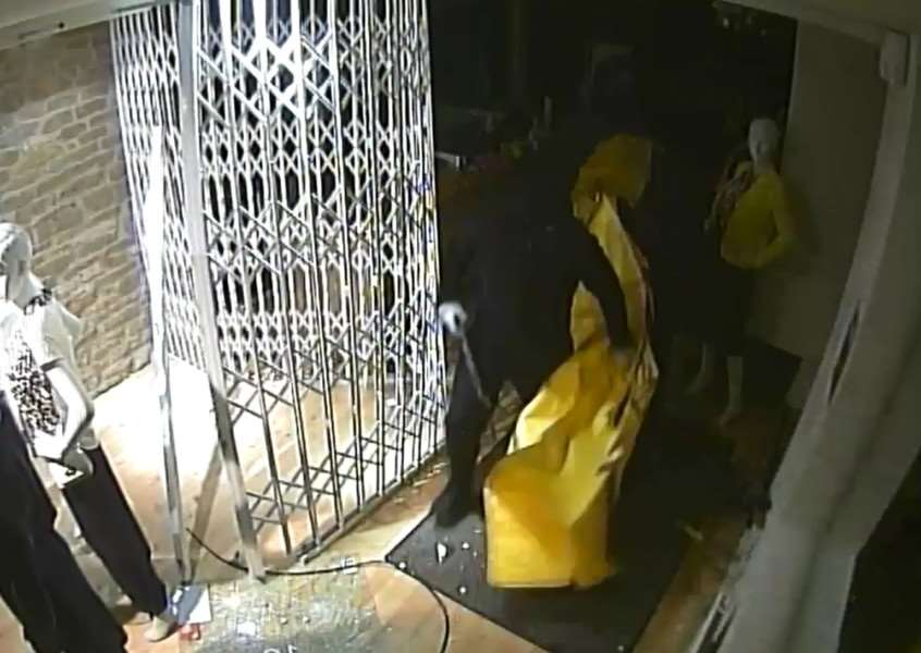 CCTV of a raid on Cavells in Oakham on February 1, 2016. EMN-160202-161742001