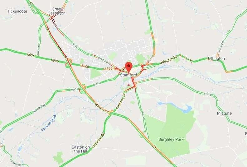 Slow traffic reported on the A1 on the morning of Tuesday September 24