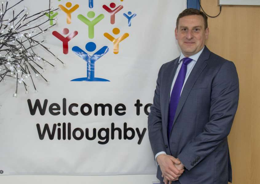 Exciting times ahead for Willoughby School headteacher James Husbands. Photo by Lee Hellwing