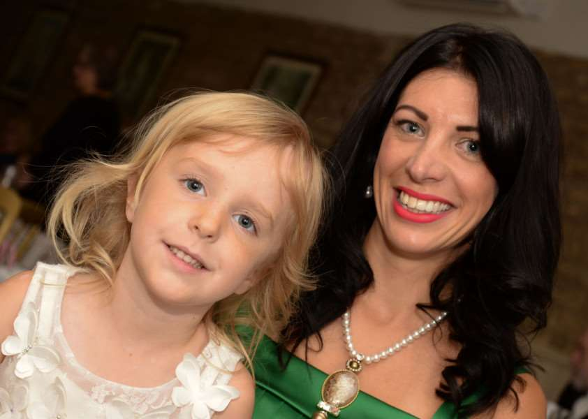 Zoe and Phoebe Crowson at the fundraising event. Photo: Alan Walters EMN-150409-110547001