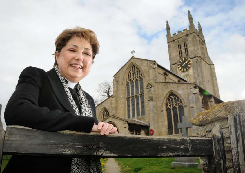 Rev Dr Lynda Pugh, priest-in-charge of St Andrew's Church, Rippingale.
