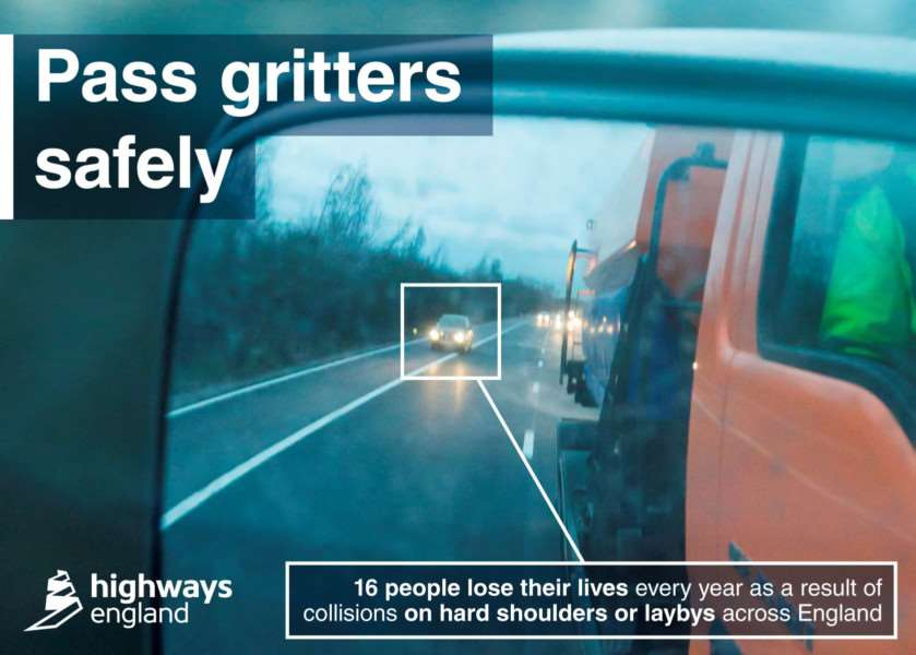 Pass gritters safely