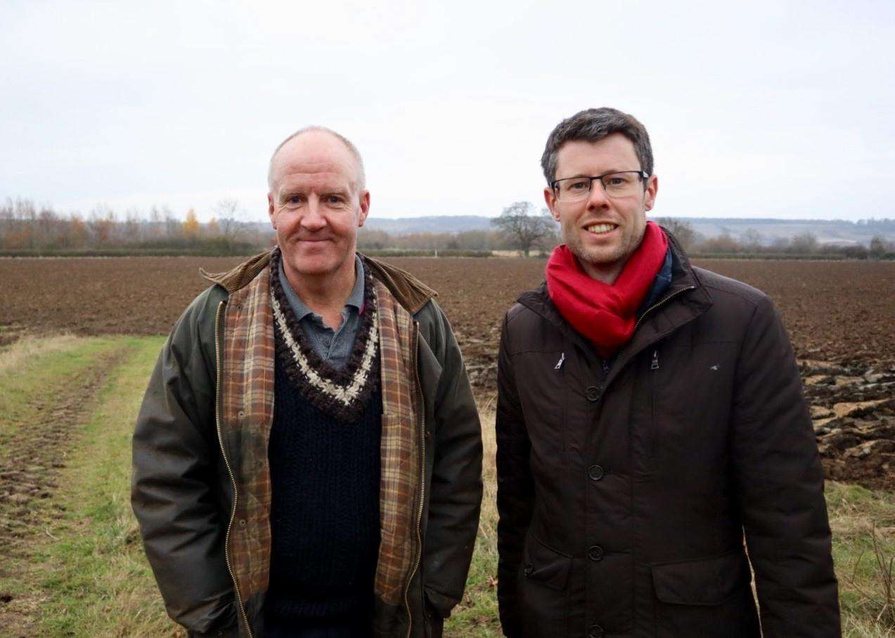 Farmer Andrew Brown and MEP Rory Palmer (6482364)