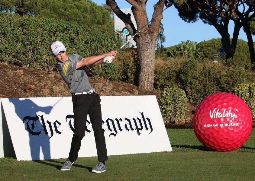 Charles Petrie in action at the 2017 Telegraph Vitality Junior Golf Championship.'Picture: Gary Prior.