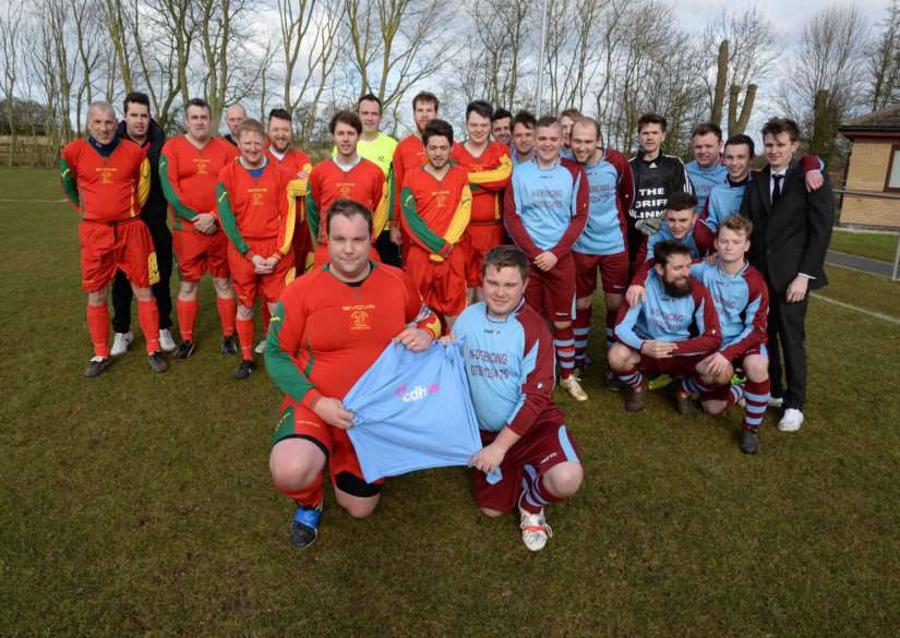 Charity football match for CDH UK in Oakham. Photo: Alan Walters MSMP-01-03-15-aw001 EMN-150203-112319001