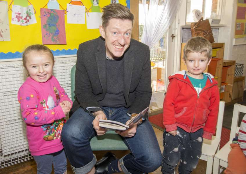 William Ivory visits Belton Pre School. By Lee Hellwing.
