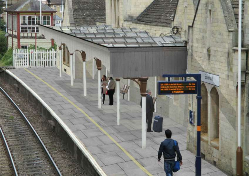 The proposed new roof at Stamford railway station. Photo: Network Rail EMN-150810-102728001