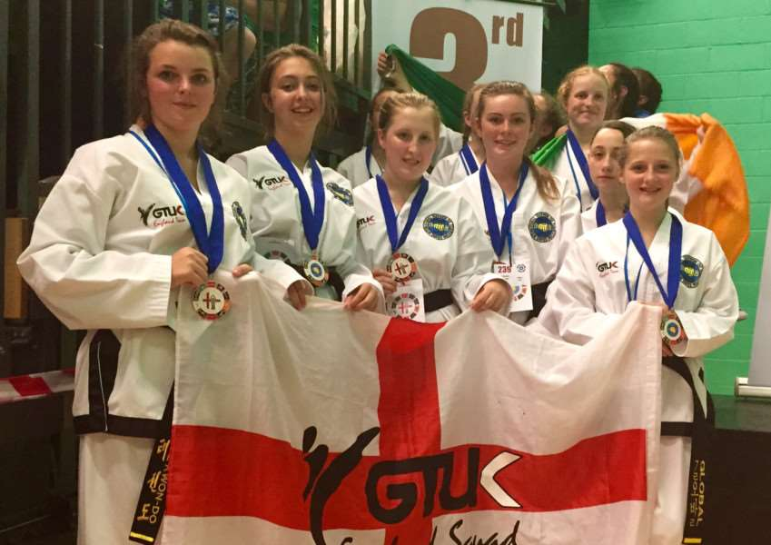 Action from Stamford and Oakham Taekwondo fighters at the World Championships EMN-150715-145705001