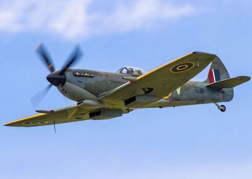 The Battle of Britain Memorial Flight Spitfire LF.XVIe TE311. ENGEMN00120130617134300