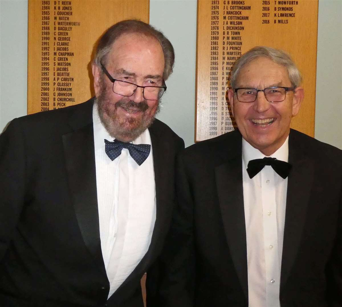 Mike Lewis (left), the after-dinner speaker at Burghley Park Golf Club's captain's dinner, with Bob Collier. (6897699)