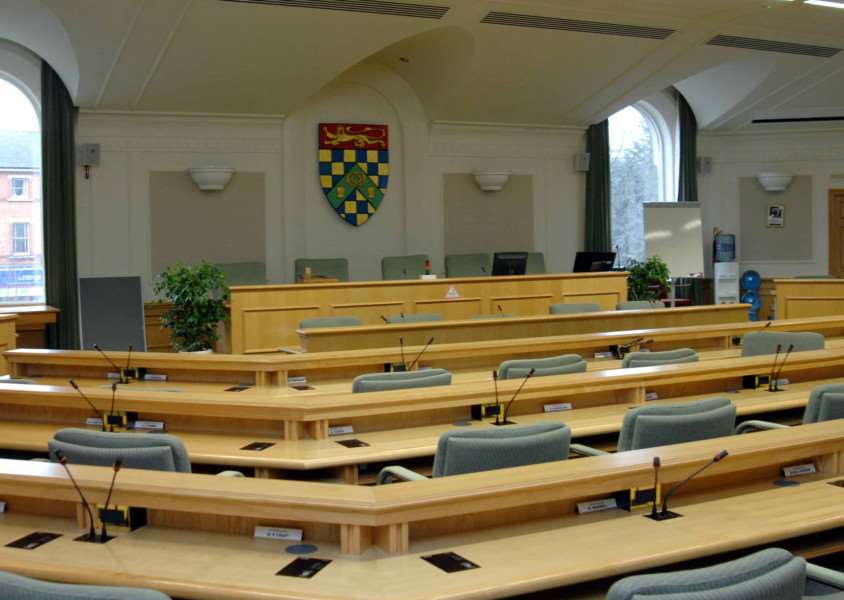 The South Kesteven District Council chamber. EMN-150503-094514001