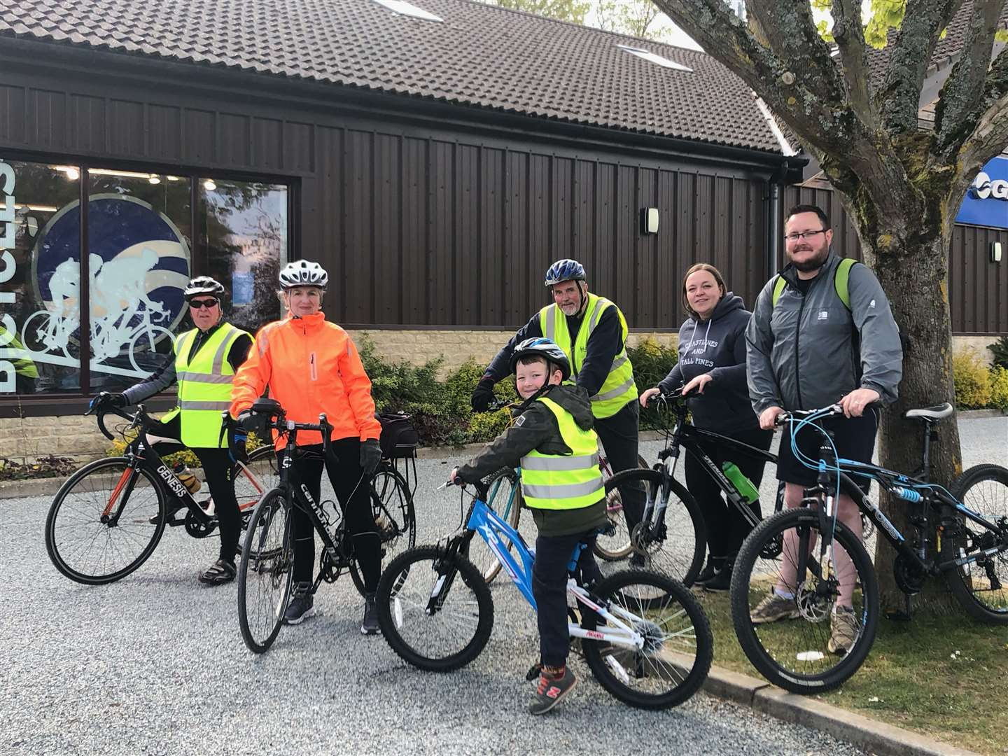Frank McEwan completed his 50th ride on Sunday - with a little support from family and friends. Photo: Andrea Chapman
