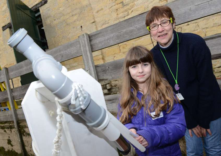 Space exploration at Woolsthorpe Manor. Pictured: Emily Francis and Liz Bender