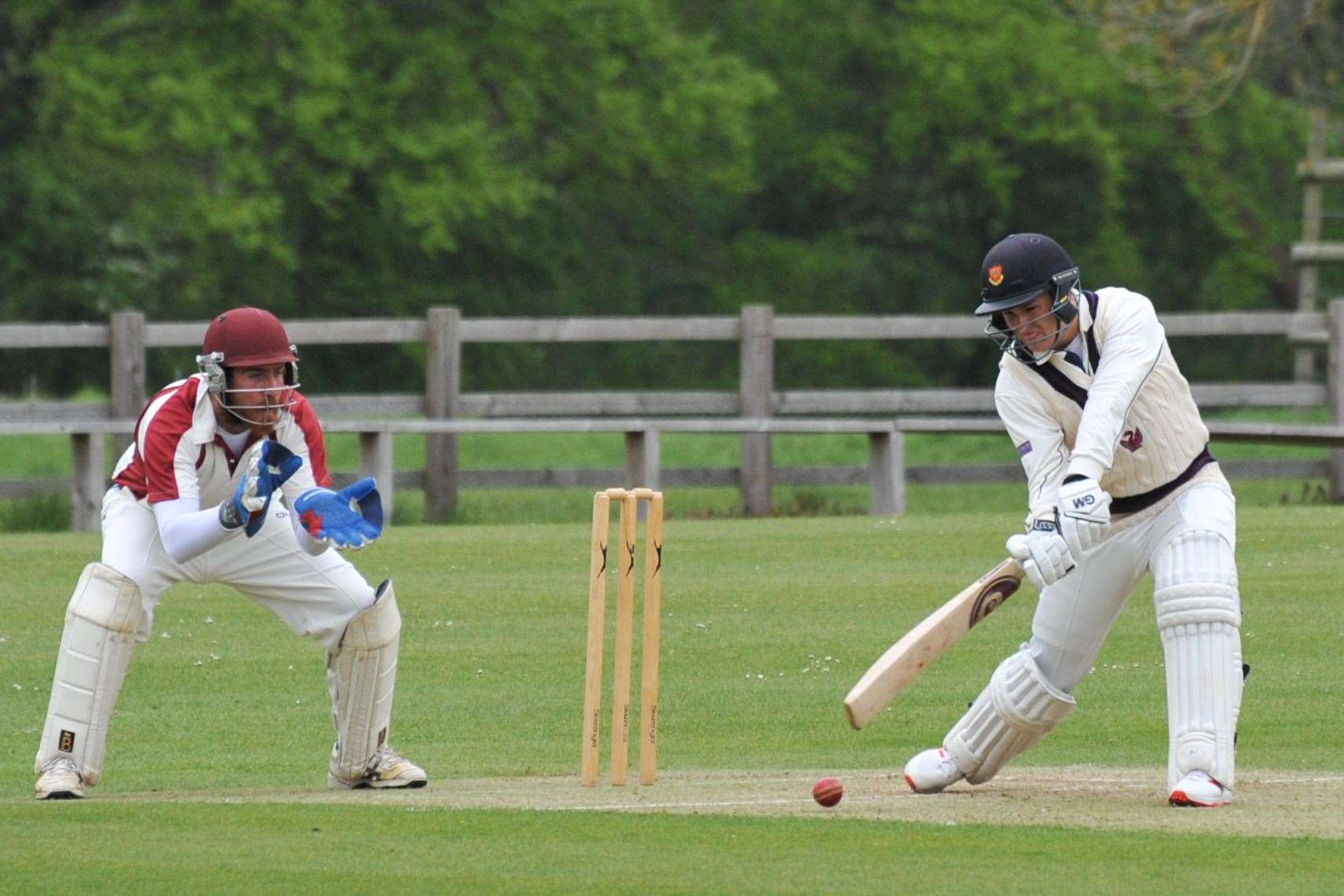 Action from Burghley Park's victory over Uppingham in Division Two. Photo: Alan Walters (9406731)