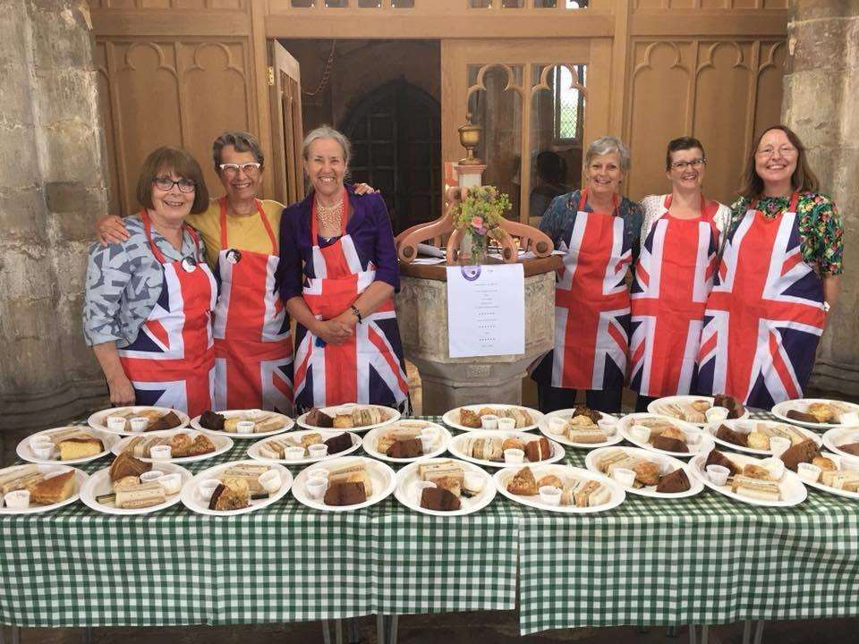 Volunteers who helped prepare 120 cream teas on the day (2642998)