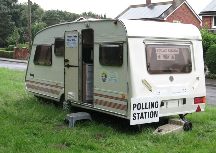 An unusual polling station in Suffolk