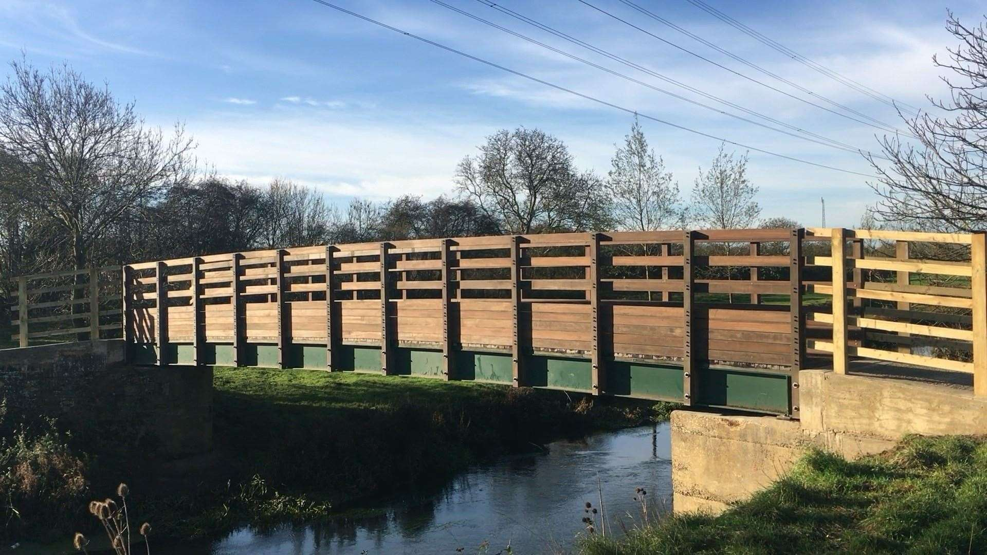 The new bridge over the River Welland at Hudd's Mill, Stamford. Photo: Richard Cleaver