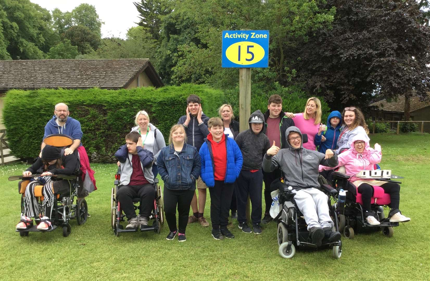 Pupils from Bourne's Willougby School on a residential trip, sponsored by the Rotary Clubs of the Deepings and Bourne