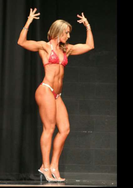 Gemma Catlin in the final of the Toned Figure contest.
