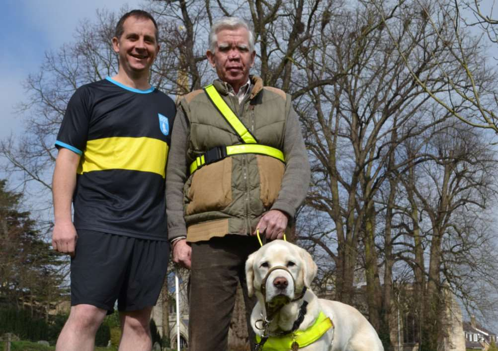 Uffington famer, James Genever who is running the London marathon this year in aid of Guide Dogs for the Blind. EMN-150704-112409001