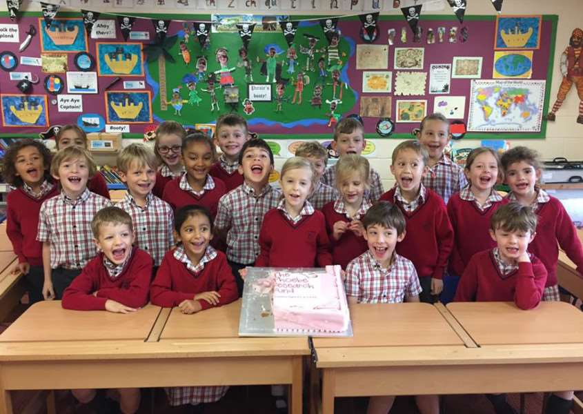 Phoebe and her classmates at Copthill School can't wait to tuck in