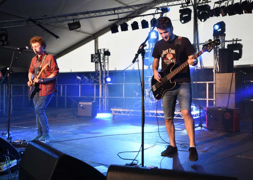 Bourne Festival 2015. The Vigilanties on stage EMN-150606-003649009