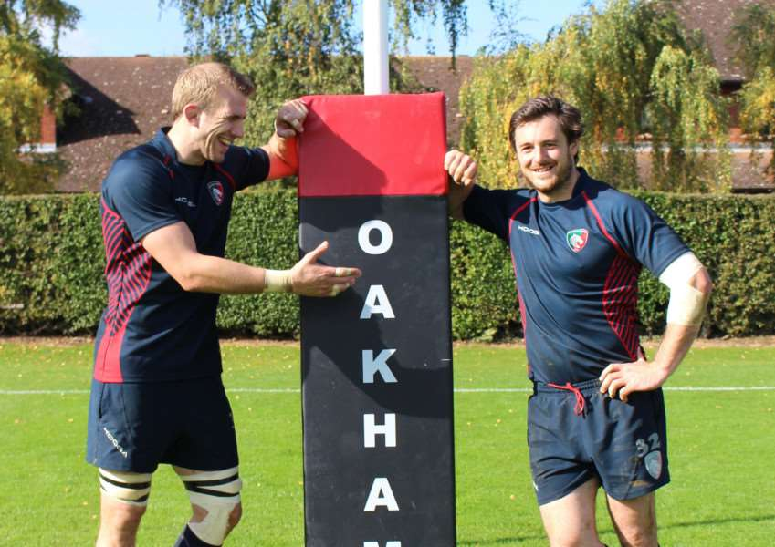 Leicester Tigers players at Gala Dinner at Oakham School
