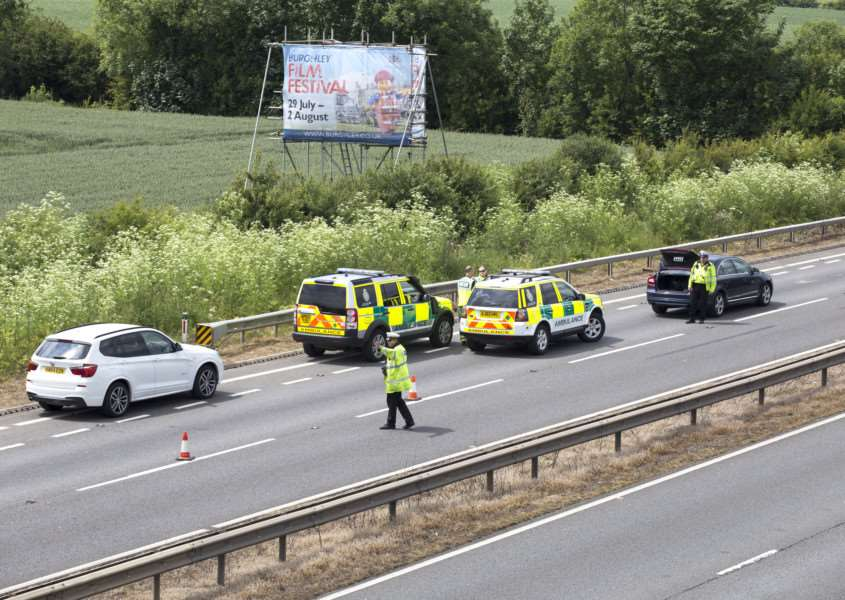 Police stopped a lorry full of 30 suspected illegal immigrants on the A1 south of Stamford. Photo: Lee Hellwing. EMN-150616-153418001