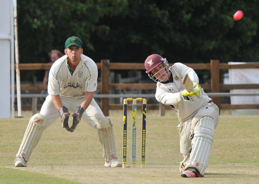 Burghley Sixes finals evening. Stamford Town CC Batsman Tom Williams CAUGHT EMN-151107-002425009