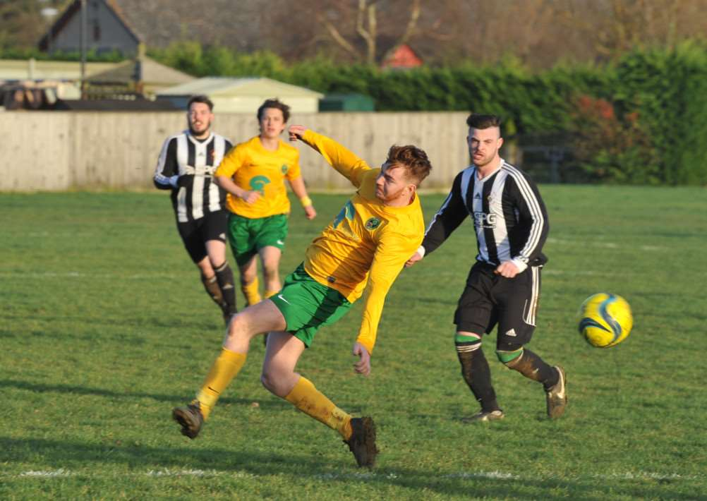 Action from Langtoft v Oakham football at Langtoft. EMN-151001-221256009