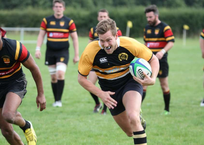 Action from Oakham RFC v West Bridgeford in pre-season. Photo: Mark Hives EMN-150809-143350001