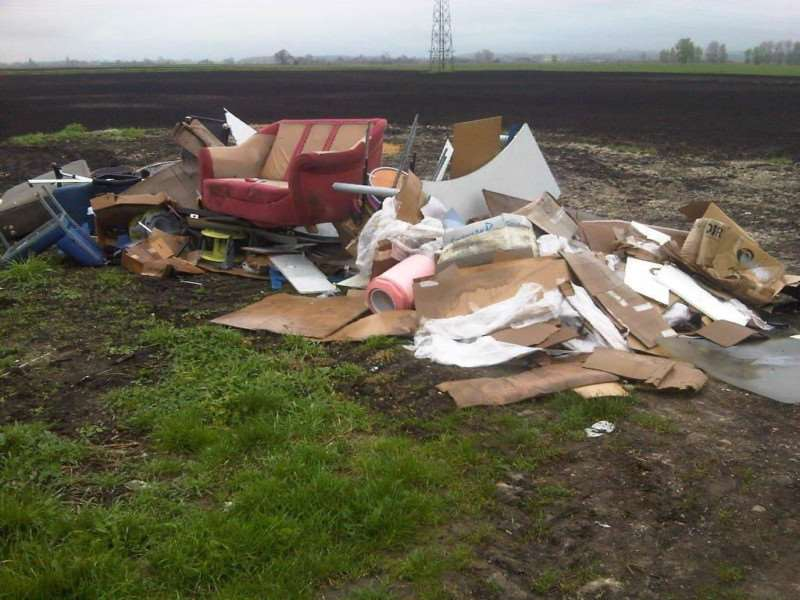 Fly tipping at South Fen Road, Bourne.