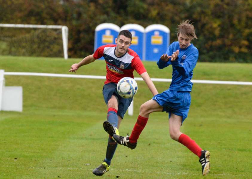 Action from Cottesmore Amateurs v Ashby Ivanhoe Reserves. Photo: Alan Walters EMN-151026-113800001