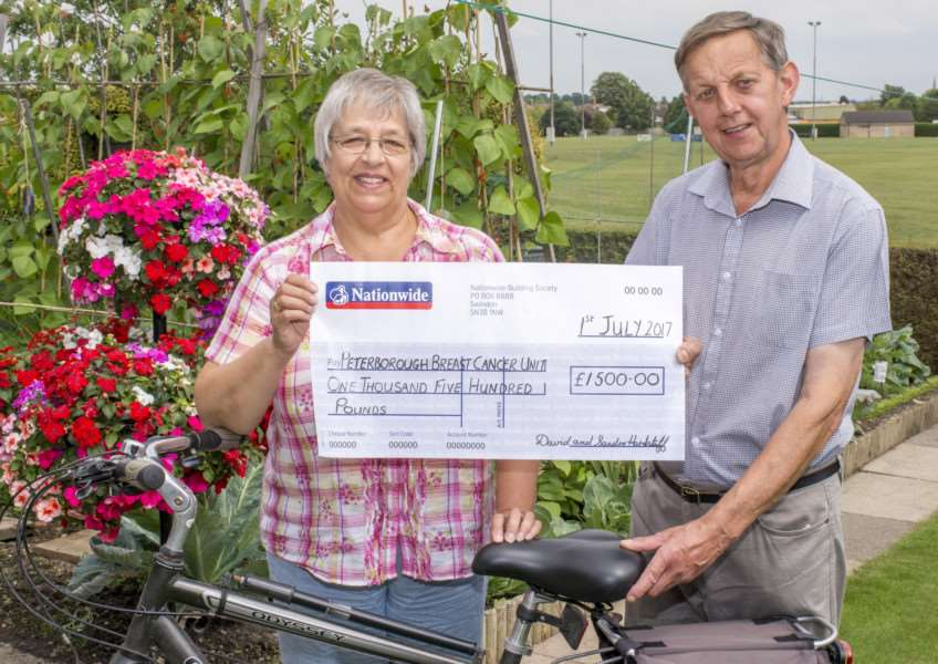David Hardstaff, who raised �1,500 for a hospital, and his wife Sandra Hardstaff