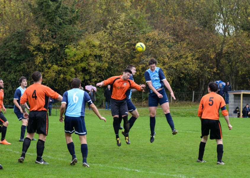 Ketton FC in action against Leverington Sports. Photo: Alan Walters EMN-151026-113938001
