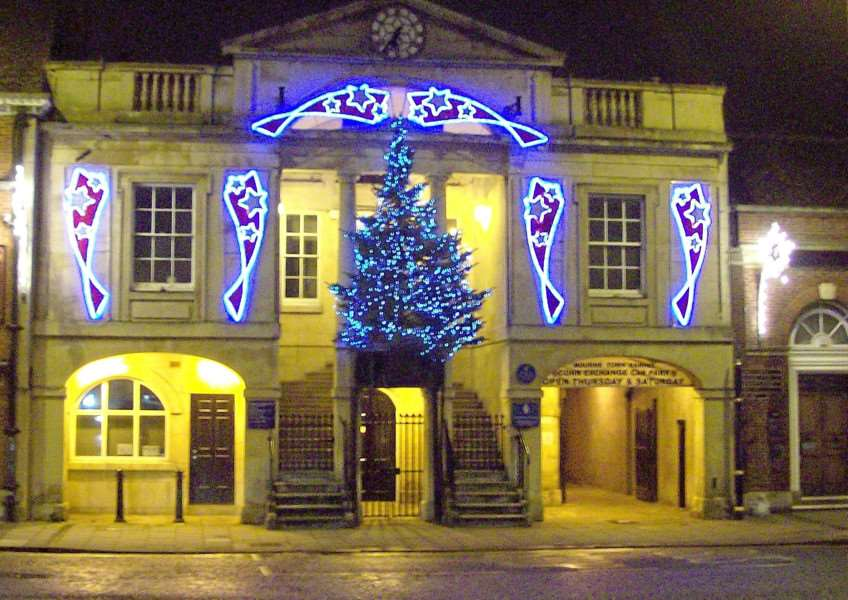 New lights have been installed on the front of the Town Hall to celebrate Christmas this year. Photograph by Rex Needle ENGEMN00120121217155528