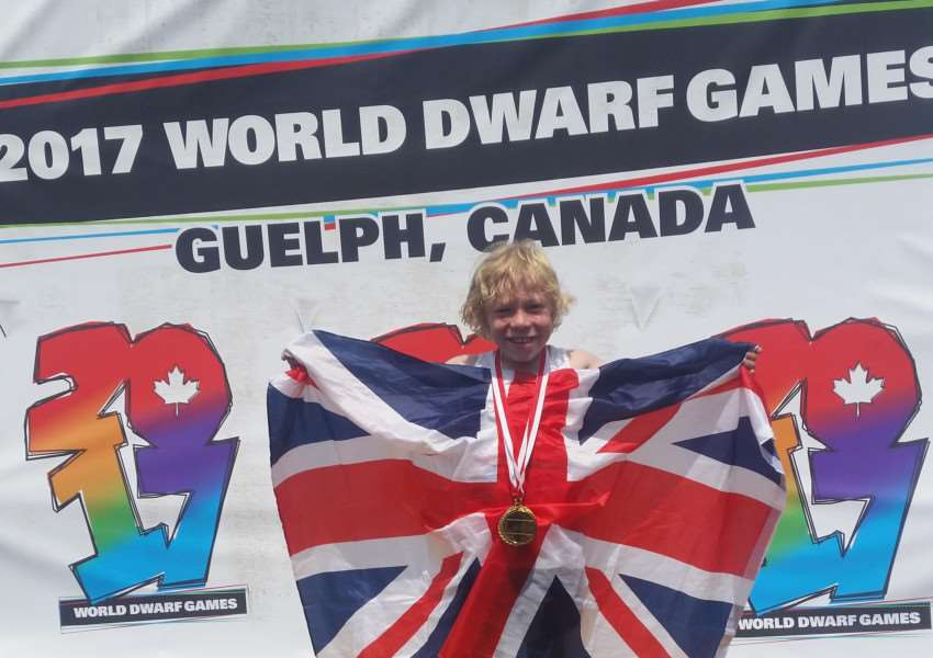 Josh Waring on the winner's podium at The 7th World Dwarf Games. Submitted