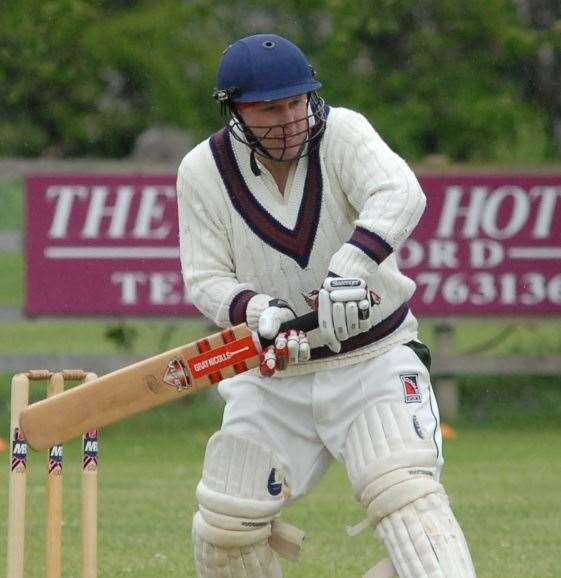 Damien Herrick hit a century for Uffington. (10260188)