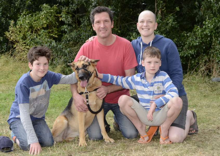 Becky Hadfield with her family EMN-160816-100120001