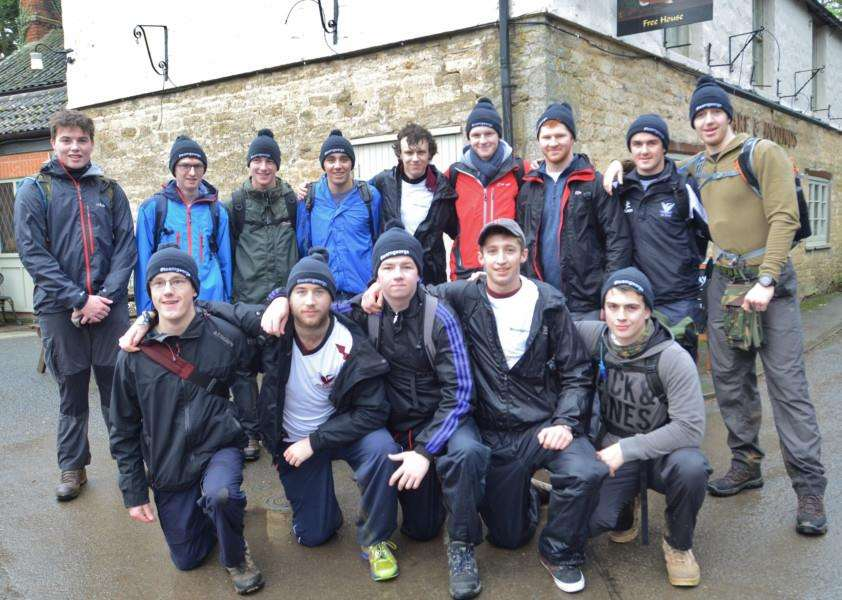 Sponsored walkers from Stamford School at Greatford. They are raising cash for injured classmate EMN-160201-160823009