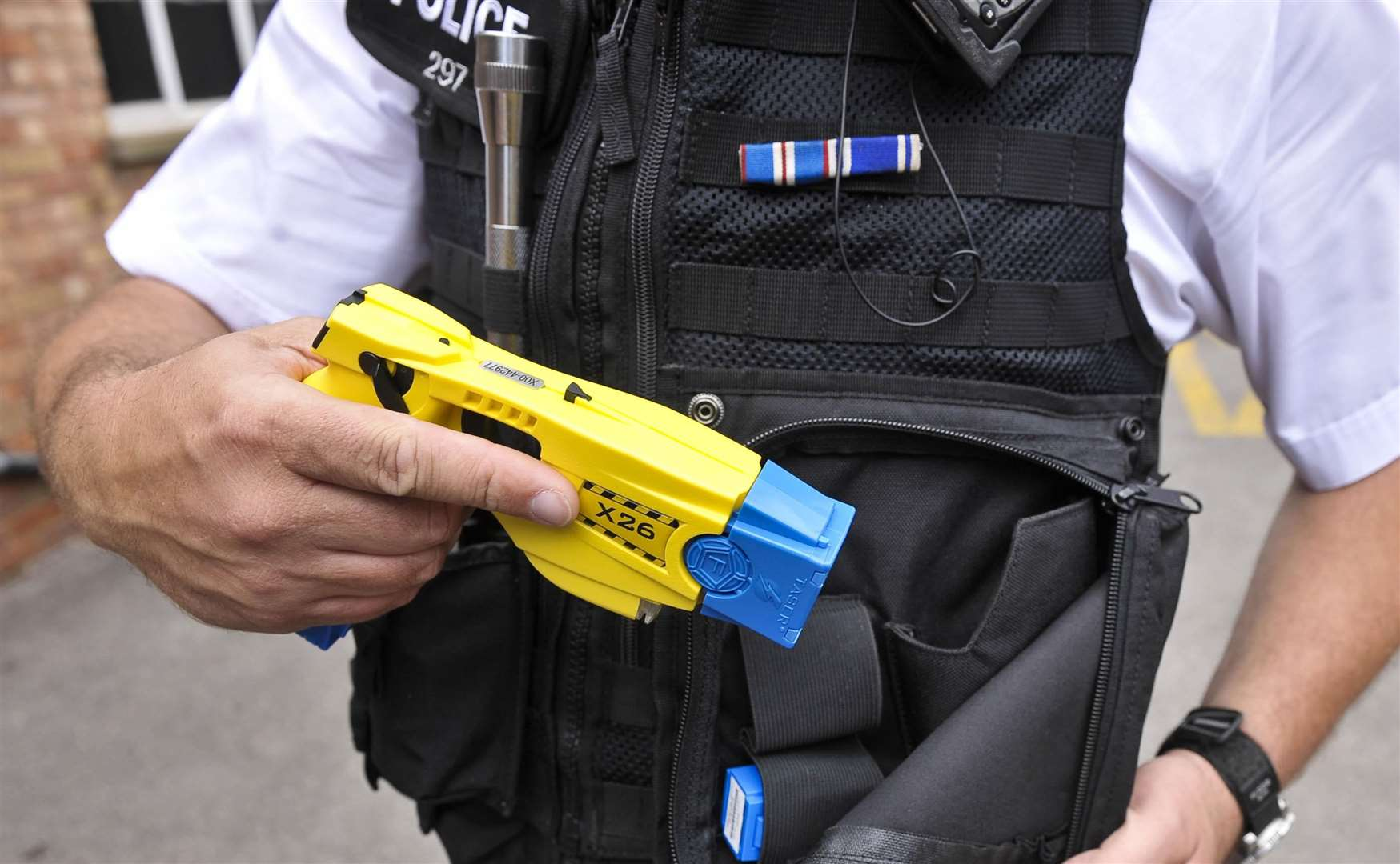 An underwater search team on training was searching for a police Taser like this one, which was lost in the River Welland on June 25