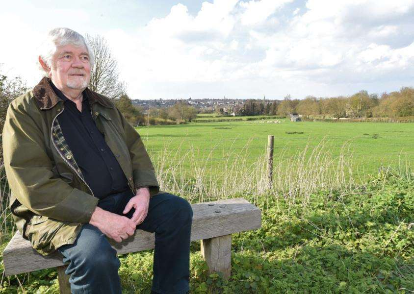 Ian Campbell at Wothorpe - scene of proposed development EMN-160413-223537009