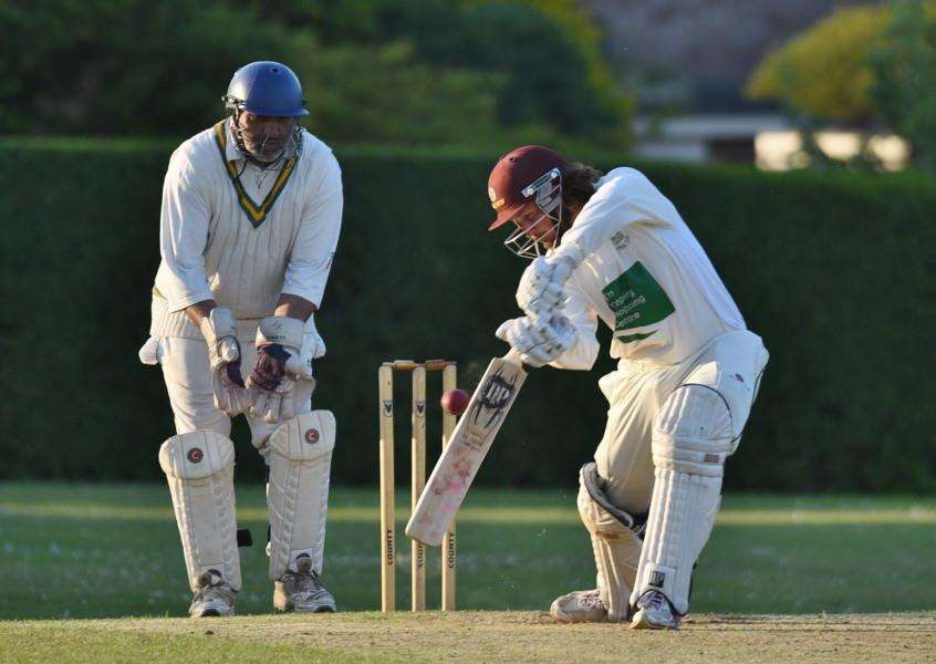Deeping's Emile Kriek during his innings of 76 in a Jaidka Cup semi-final win over Barnack. Photo: David Lowndes.
