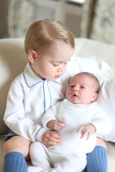 Photo released by the Duke and Duchess of Cambridge of Prince George and Princess Charlotte. Photo: Press Association. Copyright: HRH The Duchess of Cambridge 2015.