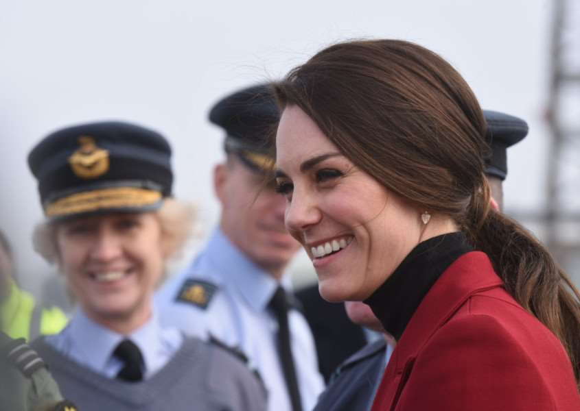Duchess of Cambridge visits RAF Wittering