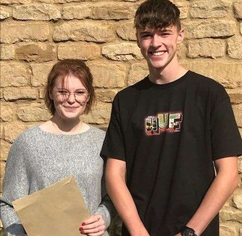 Phoebe and Harrison from Kirkstone House School in Baston