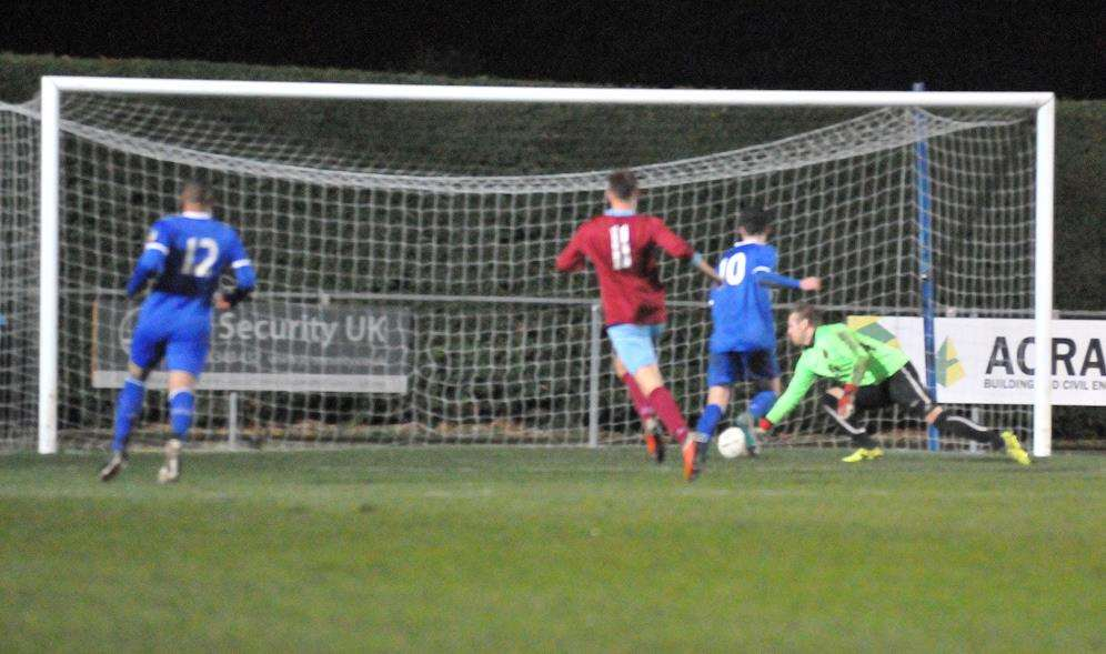 Deeping Rangers FC - action v Oadby Town.Second half. Forth goal.. (5538349)