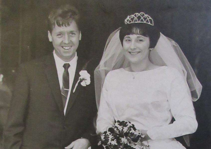 Janet and Pop Baxter on their wedding day in 1967