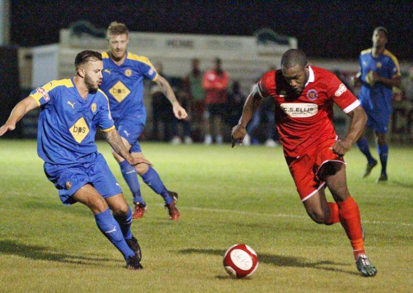 Stamford AFC beat Leamington FC in the FA Cup first qualifying round replay. Photo: Geoff Atton EMN-150916-160551001