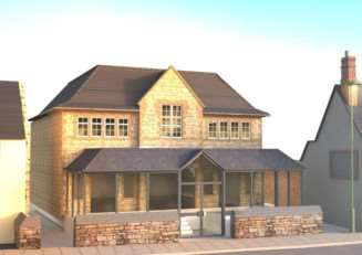 An architect's impressions of how the new frontage to Uppingham town hall could look. EMN-141216-143904001